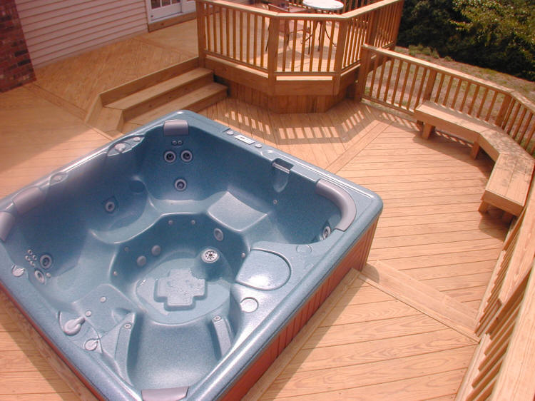 Designer builder connecticut ct deck builder hot tub decks for Hot tub deck designs plans
