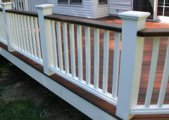 white king post vinyl rails