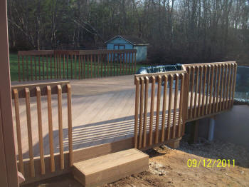 all ipe pool deck with contemporary rails  after