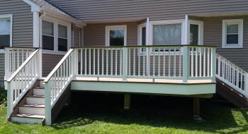 azek custom deck specialists pro buider white fascia outside deck