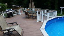 azek pool deck composite decking ct deck pro