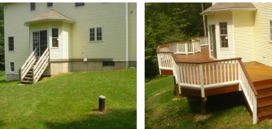 before and after deck pictures