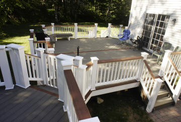 compoiste deck picture white fasica king posts