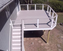 ct decks stainless cable rails