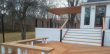 custom ipe tigerwood cable rail deck