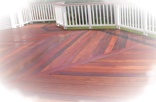 herringbone deck floor pattern