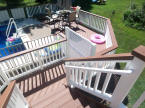 evergrain pool deck two level composite decking