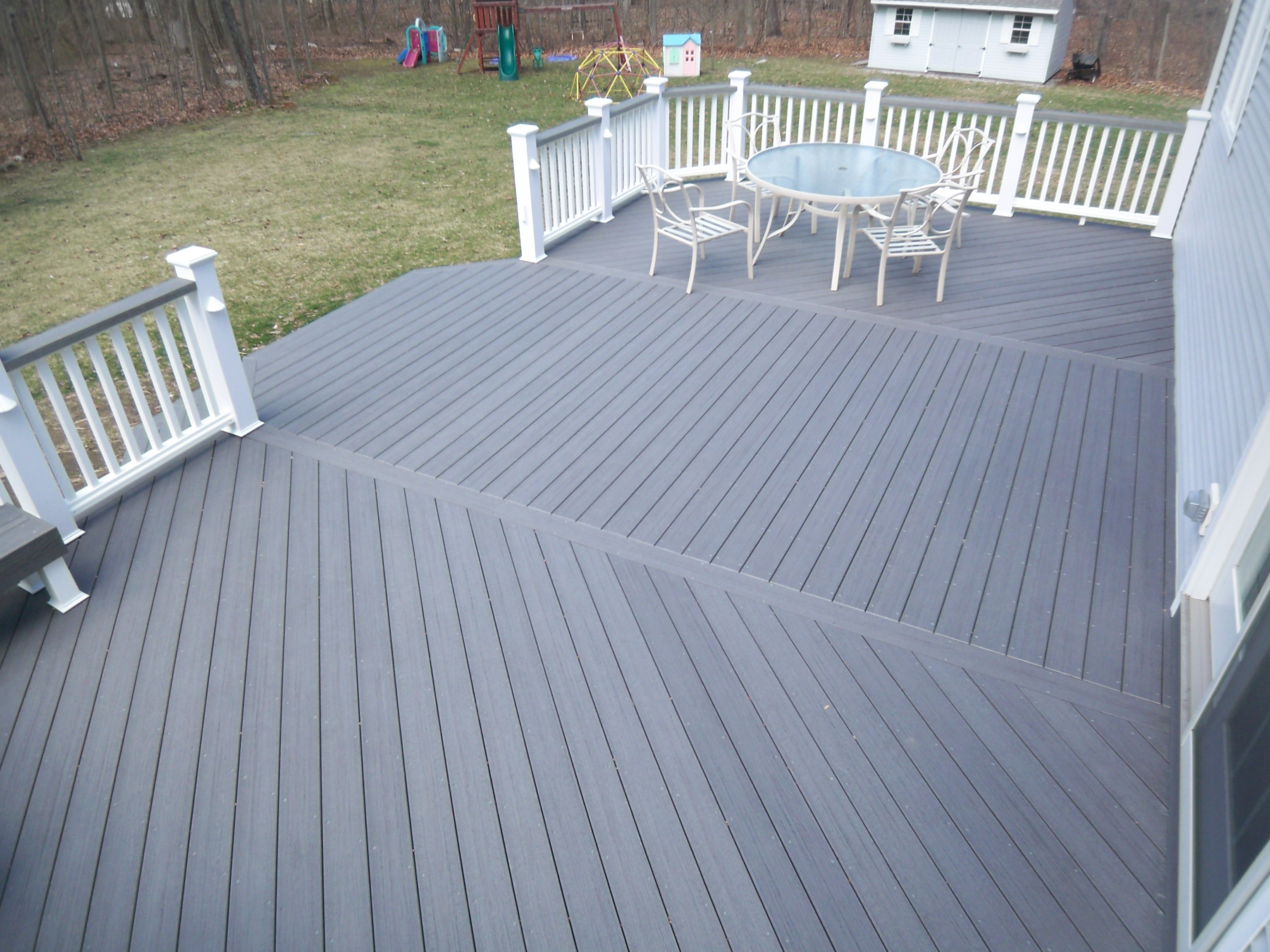 1000 images about deck ideas on pinterest deck design for Grey composite decking
