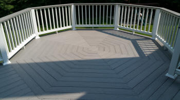 gray pvc composite azek decking project cool floor pattern octogon