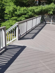 grey azek pvc composite deck ct decks gray solid vinyl rail system