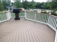 evergrain compoiste deck with grille corner