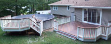 ipe deck with ipe pool deck pool decks above ground - Above Ground Pool Deck Off House