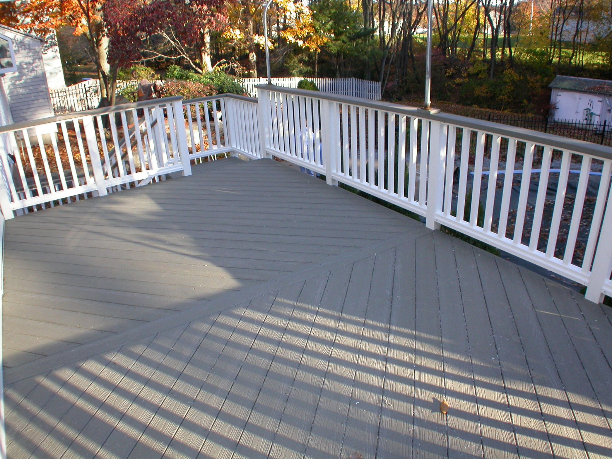 Composite deck composite deck evergrain for Composite deck railing