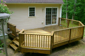 treated deck in east hampton