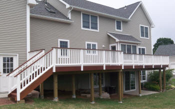 large ipe deck in glastonbury ct