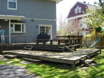 treated deck in hartford