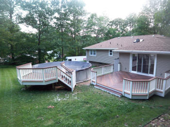ipe decks pool deck and home deck after