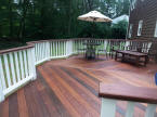 ipe deck in connecticut sealed with cabots