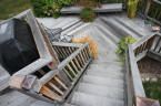ipe decking silver patina stairs
