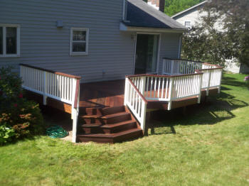 nice glastonbury ipe deck after