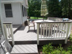 two level composite deck evergrain decking