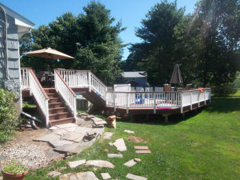 vernon composite pool deck after