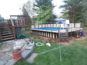 vernon composite pool deck before